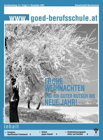 FrohE WEihnachtEn nEuE Jahr! - GÖD - Bundessektion 12 ...