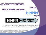 Qualitative Findings from The Health in Middlesex Men ... - GMSH