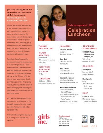 Electonic Invite - Girls Inc.