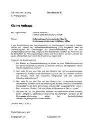 Kleine Anfrage im Wortlaut - Gisela Kallenbach
