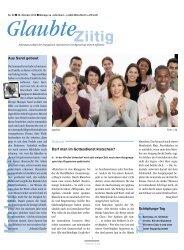 Ausgabe 2010 Nr. 20 - Darf man im Gottesdienst klatschen?