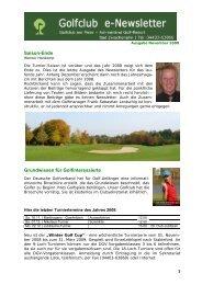 Saison-Ende Grundwissen für Golfinteressierte - Golfclub am Meer