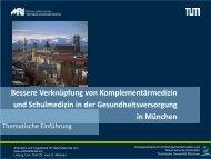 Thematische Einführung, Prof. Dr. med. Melchart