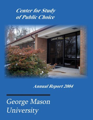 Center for Study of Public Choice - George Mason University