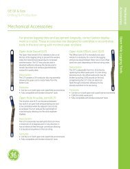Open Hole Logging Tools Mechanical Accessories - GE Energy