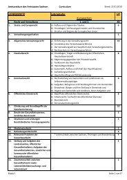 Curriculum Amtsarztkurs - Gesunde Sachsen