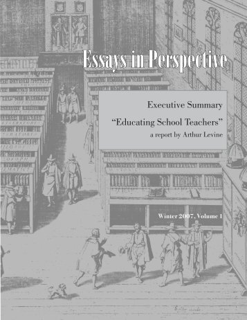 Essays in Perspective - The American Council of Trustees and Alumni