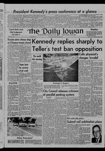 to Kennedy replies sharply Teller's test ban opposition
