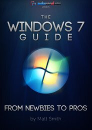 Windows 7 Guide: From Newbies to Pro's