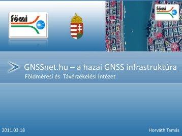 GNSSnet.hu – a hazai GNSS infrastruktúra