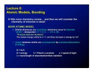 Lecture 8: Atomic Models, Bonding