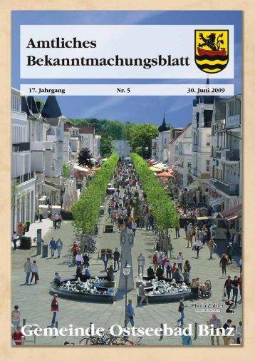 Nr. 5 vom 30. Juni 09 - Gemeinde Binz