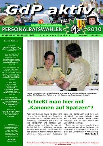 GdP aktiv 2010-02-22 - GdP Mannheim