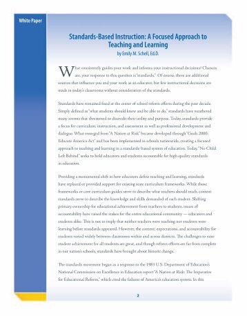 Standards-Based Instruction: A Focused Approach to ... - Glencoe