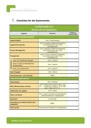 Checkliste für die Gastronomie - Netzwerk Gesunde Gemeinde