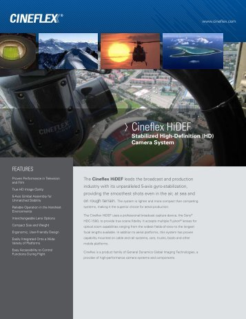 Cineflex HiDEF - General Dynamics Global Imaging Technologies