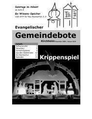 Dezember 2009 / Januar 2010 - Gemeindebote