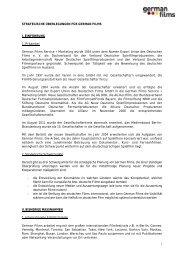 Strategiepapier - german films