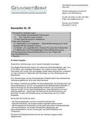 Newsletter Nr. 29 - Gesundheitsbeirat-muenchen.de