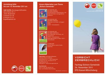 Fachtag Sichere Gemeinde 26. November 2011 EFG Kassel ... - GJW