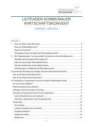 Leitfaden Kommunaler Wirtschaftskonvent - Gemeinwohl-Ökonomie