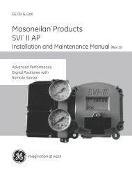 Masoneilan SVI II AP Installation and Maintenance ... - GE Energy