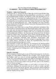 Prof. Dr. Dietrich Grille (Erlangen) WAHRHEIT – PILATUSFRAGE ...