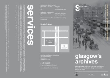 Archives New Users Leaflet - Glasgow Life