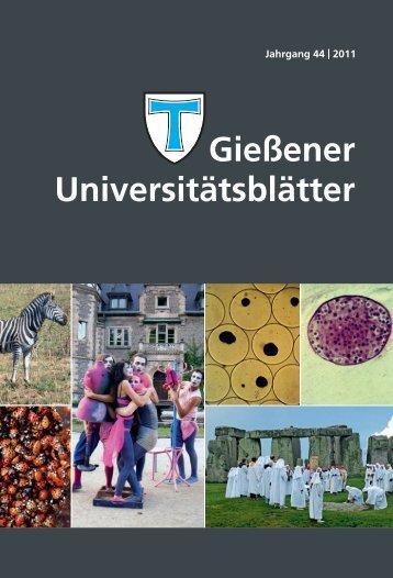 Universitätsblätter 2011 - Gießener Hochschulgesellschaft