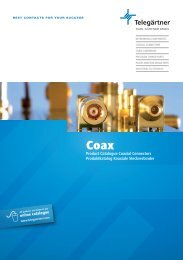 Product Catalogue Coaxial Connectors Produktkatalog Koaxiale ...