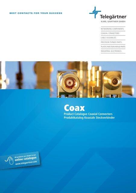 Product Catalogue Coaxial Connectors Produktkatalog Koaxiale ...