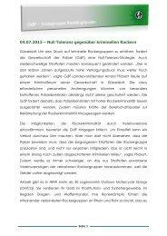 04.07.2013 – Null Toleranz gegenüber kriminellen Rockern - (GdP ...
