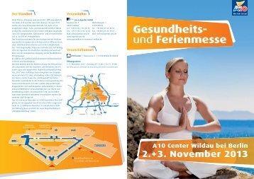 Gesundheits- und Ferienmesse im A10 Center Wildau bei Berlin