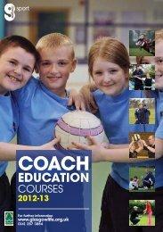 Coach Education Diary - Glasgow Life