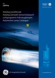 Automotive Lamps - GE Lighting