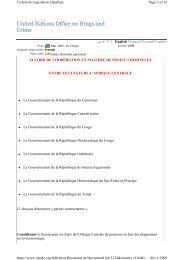 Accord de Coopération en matière de police criminelle entre les ...