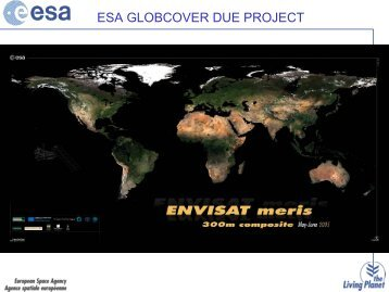 ESA GLOBCOVER DUE PROJECT