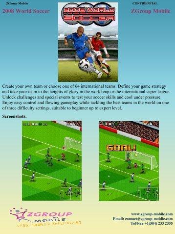 2008 World Soccer ZGroup Mobile - Get Mobile game