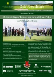Newsletter September 2011 - Golfclub am Meer