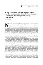Review of Nicolai J. Foss, The Austrian School and Modern ...