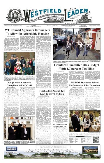 13apr25 newspaper - The Westfield Leader