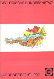 1992 - Geologische Bundesanstalt