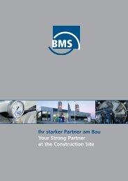 Internationales Engagement - BMS Bau-Maschinen-Service AG