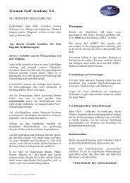 Sicherheitsbelehrung - German Golf Academy