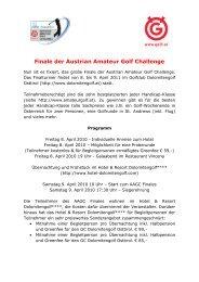 Finale der Austrian Amateur Golf Challenge - Österreichischer Golf ...
