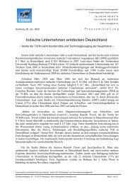 Indische Unternehmen entdecken Deutschland - Global Innovation