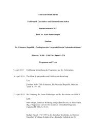 Programm - Fachbereich Geschichts - Freie Universität Berlin
