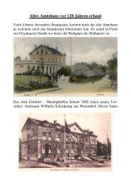 Altes Amtshaus vor 120 Jahren erbaut
