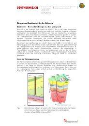Strom aus Geothermie in der Schweiz - Was ist Geothermie