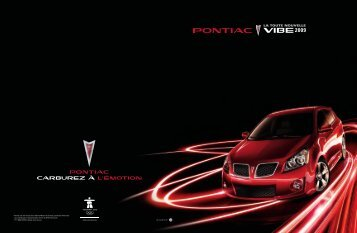 voici la toute nouvelle vibe 2009 - GM Canada
